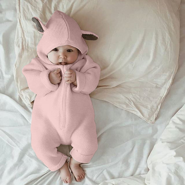 Newborn Romper Baby Rompers Winter Girl Clothes Cotton Warm Jumpsuits Kids Jumpers Fall Children Pajamas Baby Climbing Clothes