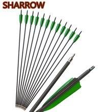 6/12pcs Spine 500 Archery Carbon Arrows 30