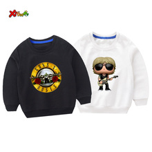 Toddler Sportswear Cotton boys guns roses Casual Outwear Cartoon Baby Clothing Girls Sweatshirts cool Children 2019 Autumn top