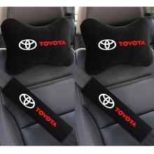 Автомобильные подушки для шеи, 4 шт./лот, мягкие чехлы на подголовник автомобильного ремня безопасности для Toyota avensis auris hilux Corolla Camry, автомобил...