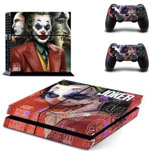 Image 3 - DC Film Joker PS4 çıkartmalar PlayStation 4 cilt Sticker oyun çıkartmaları PlayStation 4 için PS4 konsolu ve denetleyici skins vinil