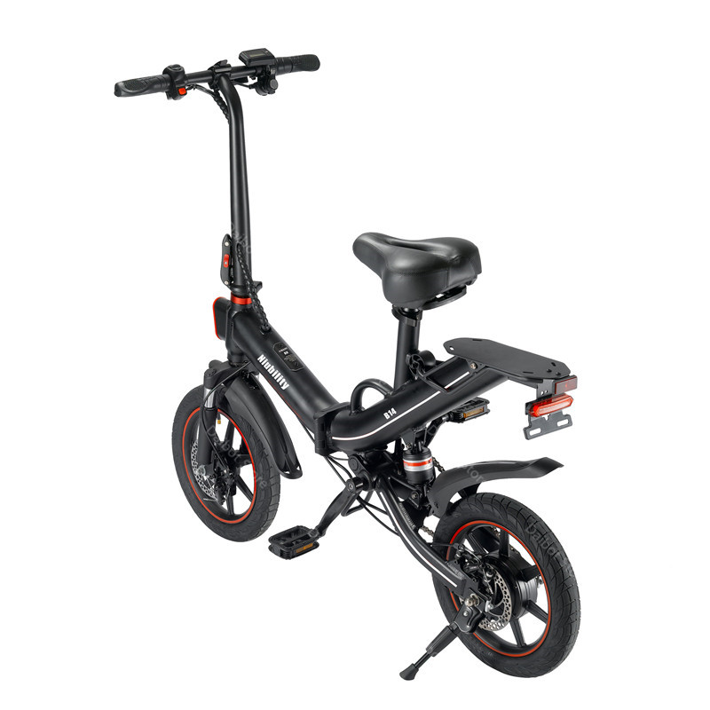 EU Stock Folding Electric bike 2 Wheels Electric Bicycles 14 Inch 400W 48V 15Ah Adult Electric Bicycle With Double Brake (3)