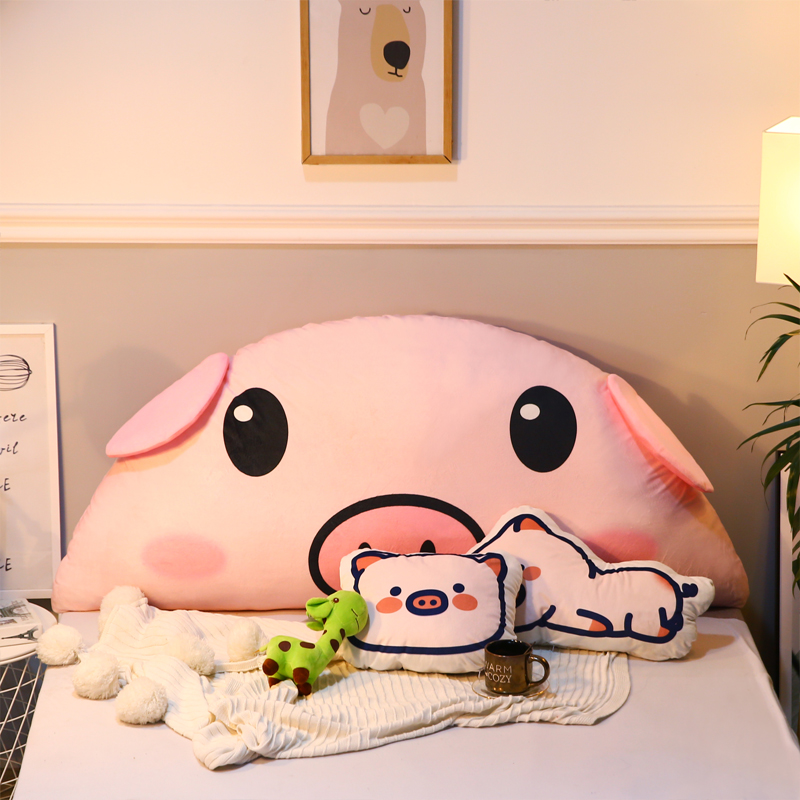 Cartoon Pillow Lovely Student Dormitory Bedside Cushion Soft Bag Double Princess Bedroom Bed Big Back