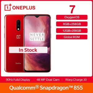 Смартфон OnePlus 7 глобальной прошивки, 256 Гб ПЗУ, AMOLED дисплей 6,41 дюйма, Snapdragon 855, двойная камера 48 МП, аккумулятор 3700, NFC, Android 9