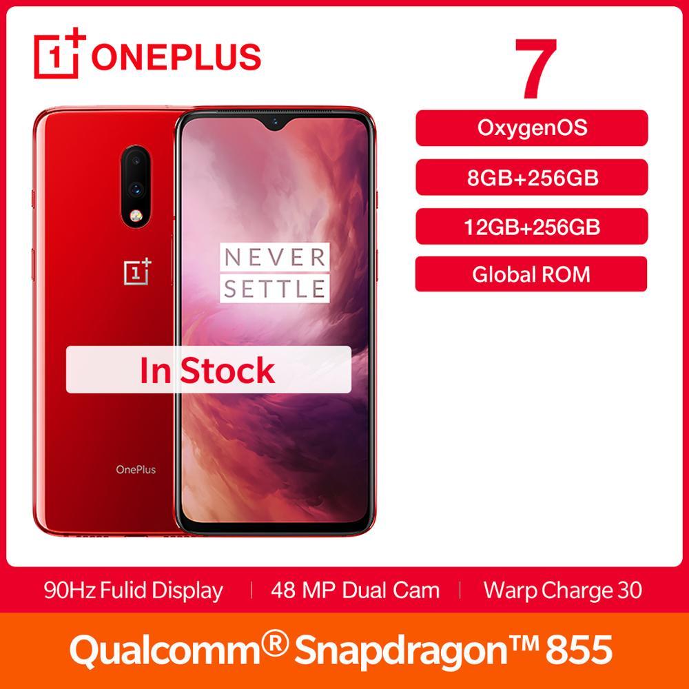 New OnePlus 7 Global Rom 256 GB ROM 6 41 inch AMOLED Display Snapdragon 855 48MP