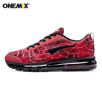ONEMIX New Style Men Running Shoes Outdoor Leather Jogging Trekking Sneakers Summer Breathable Mesh Athletic Women Sport Shoes 7