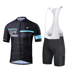 Clothing-Set Bib-Shorts-Suits Bike Cyling Jersey Mtb Bicycle Ciclismo Santic Riding-Maillot