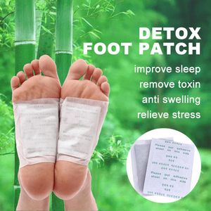 Image 2 - 200 Pieces Detox Foot Patch Improve Sleep Slimming Pads Anti Swelling Ginger Foot Patch Pads Weight Loss Patch Foot Care Tool