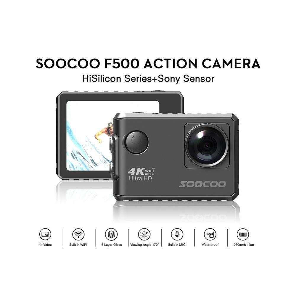 Youtube Heißer SOOCOO F500 4K WIFI Action Sport Kamera Ultra HD Wasserdichte Unterwasser DV Camcorder HDMI LCD Sport Kamera