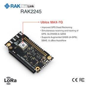 Módulo do concentrador de wislink lora baseado em sx1301 ublox MAX-7Q módulo gps pré-instalar lora gateway os rak2245 selo edição q192
