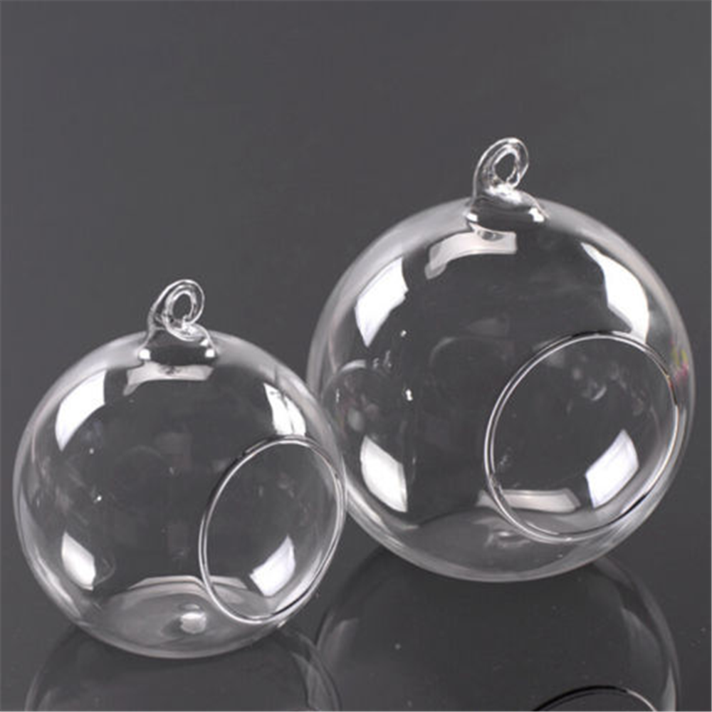 Creative Clear Hanging Ball Glass Flowerpot Office Garden Decoration  Flower Planter Vase Terrarium Container Landscape Bottle