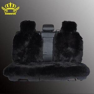 Image 3 - Housse de siège arrière, fausse fourrure, 4 couleurs, universelle pour tous les types de sièges, pour voiture lada priora, pour peugeot 406, lada, 3 pièces