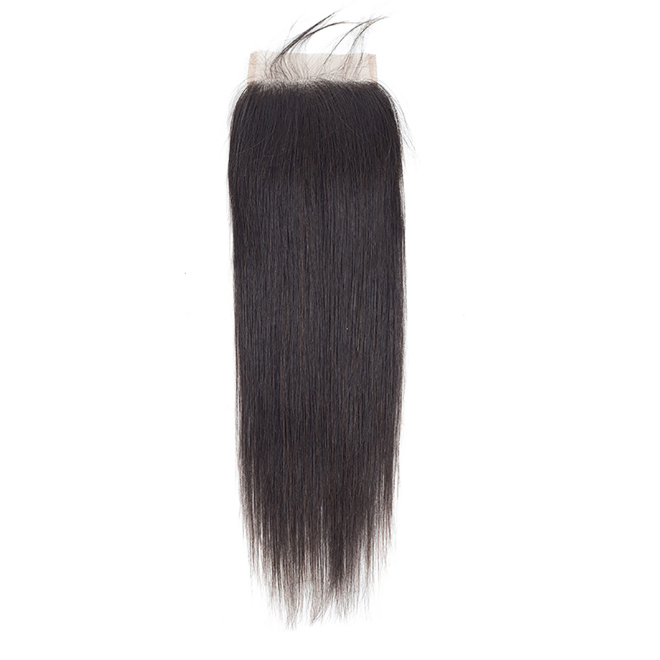WTB 4x4 Lace Closure Synthetic Hair Closure Brazilian Hair Weaving Natural Straight Closure