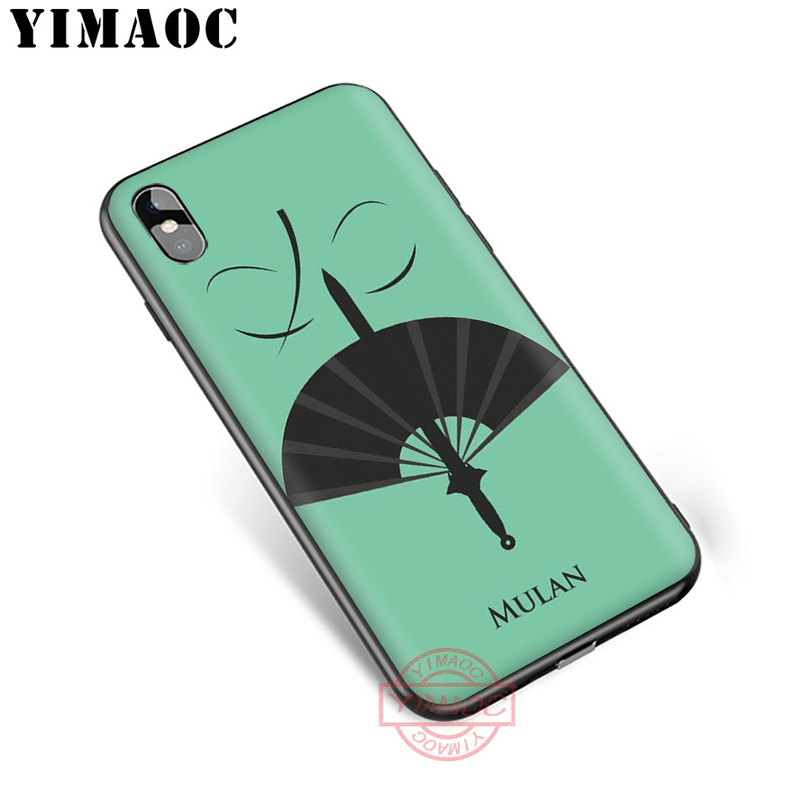 YIMAOC Mulan Soft Silicone Case for iPhone XR X XS Max 8 7 6S 6 Plus 5S SE TPU Cover in Fitted Cases from Cellphones Telecommunications
