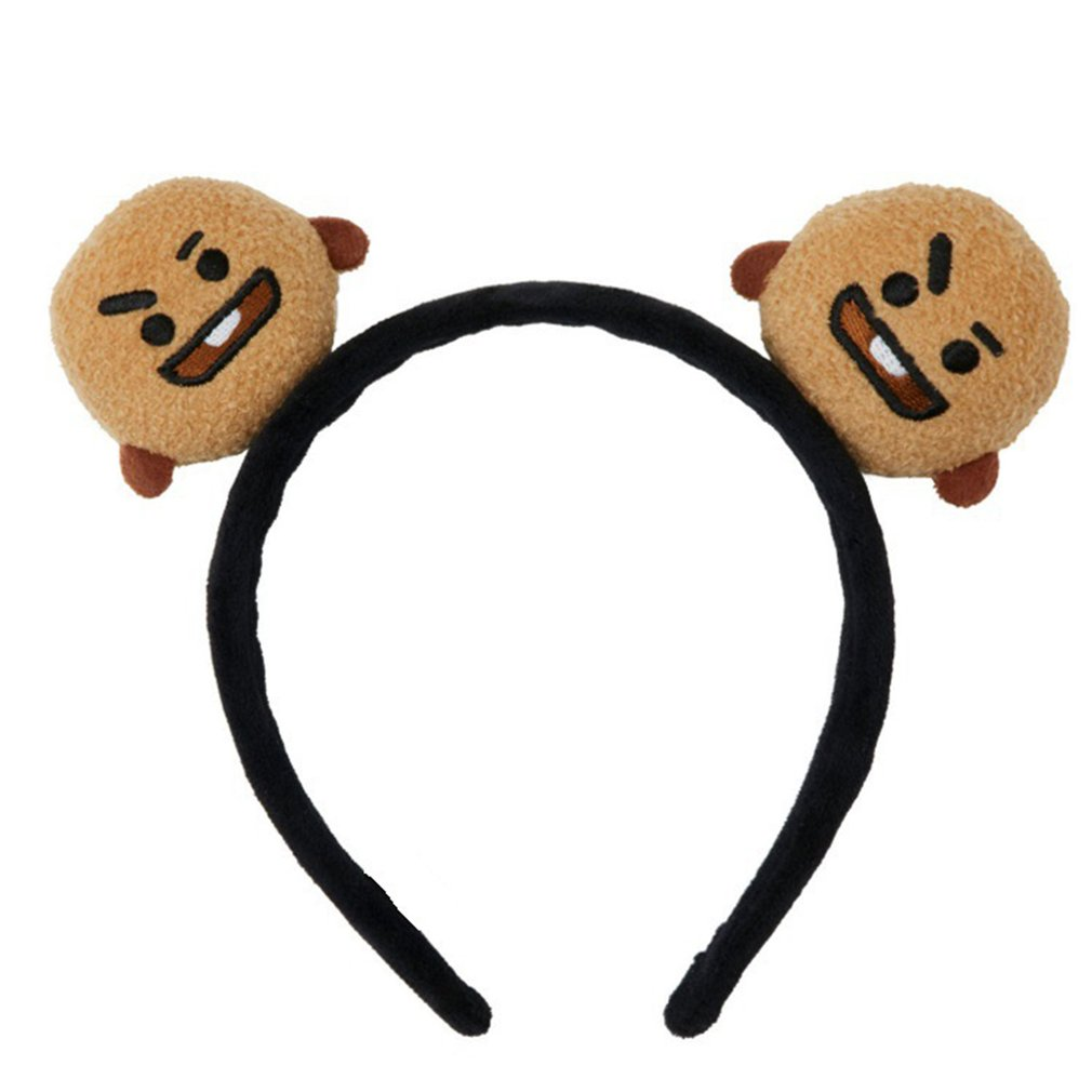 BT21 Portable Mini Elastic Hair Band Cartoon Headband Bangtan Boys Fans Hair Band Plush Hair Accessories Unisex