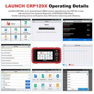 Image 4 - STARTEN X431 CRP129X OBD2 Scanner OBDII Automotive Auto Code Reader OBD Diagnose Werkzeug ABS SRS Transmission Motor Öl/EPB/TPMS