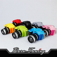 Creative ​Keychain Mini Toy Camera Charm Keychain With Flash Light Sound Effect Keyring Car Decor Trim Xmas Gift(China)