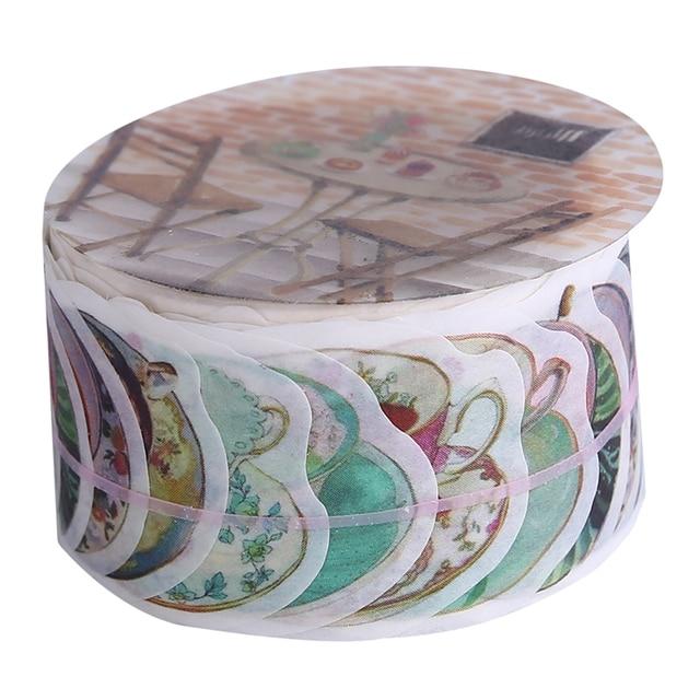 Créatif fleur pétales papier ruban fruits décor ruban de masquage bricolage artisanat Journal Scrapbooking papier collant autocollants cadeau papeterie