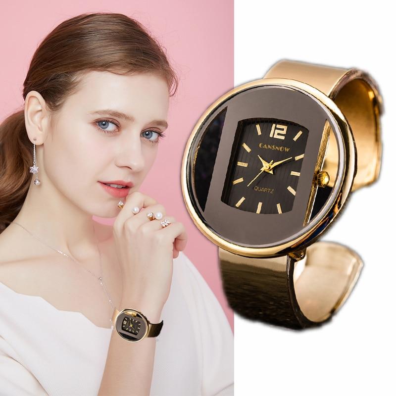Women Watches 2019 Luxury Brand Bracelet Watch Silver Black Dial Women's Watch Quartz Clock Relogio Feminino Zegarki