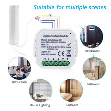 Tuya Zigbee Curtain Module,Smart Home Control,APP Wireless Controller for Roller Shutter Blind Motor,Support Alexa/ Google Home