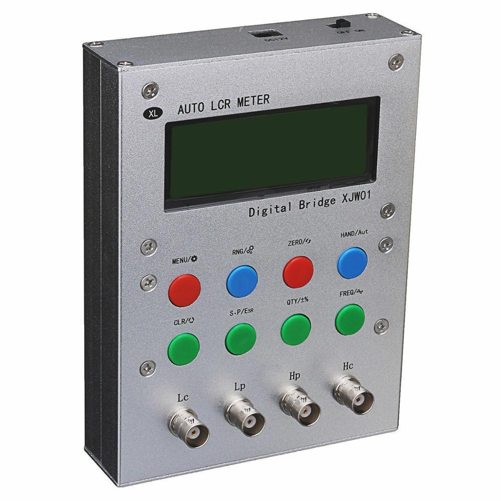 Kits DIY XJW01 Puente digital 0.3% L/CR probador de resistencia, inductancia, capacitancia, medidor ESR,