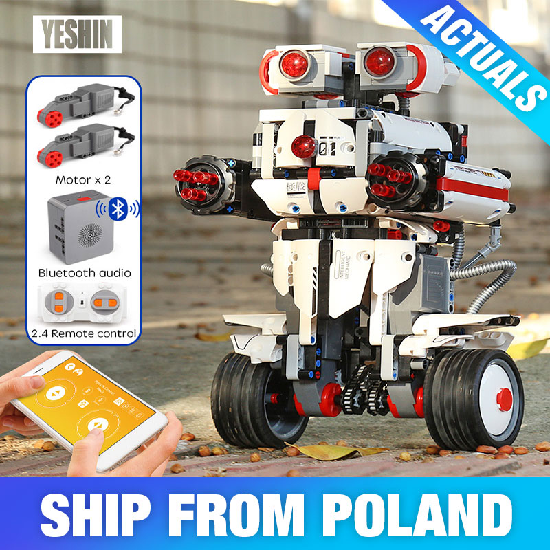 Yeshin App Control Programming Robot lepinbrick 17101 Boots Robot Building Blocks Bricks Kids RC Toys With Voice Control