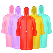 Transparent Raincoat Poncho Adult Outdoor Portable Women Riding And Increased Thickening