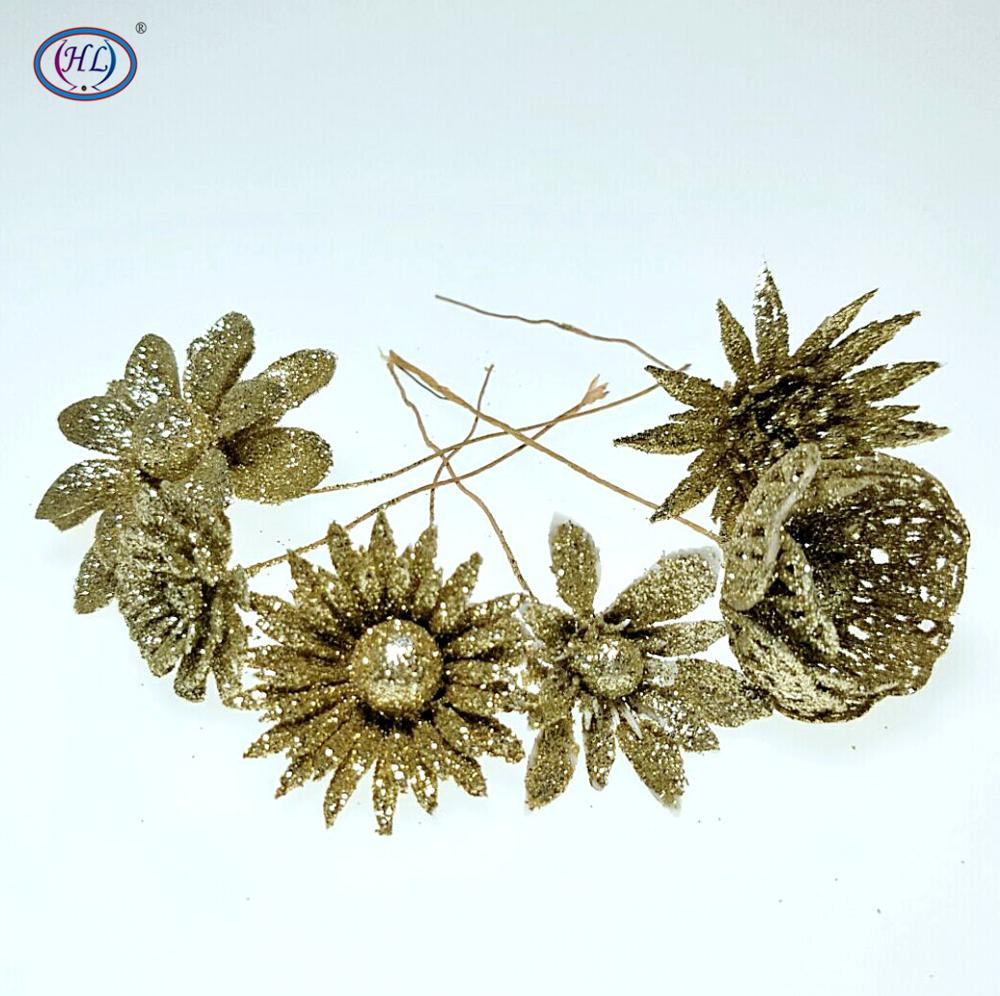 HL 1pc Artificial Flower For Wedding Christmas Home Decoration Needlework DIY Crafts