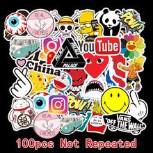 100Pcs Tide brand Sticker Doodle Tide Brand Luggage Sticker
