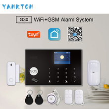 Tuya Smart WiFi 2G GSM Home Security Alarm Sysrtem 433MHz Wireless Burglar Alarm Kit Android iOS System APP Remote Control yobang security russian french spanish wifi alarm system home gsm gprs burglar alarm ios android app control outdoor ip camera