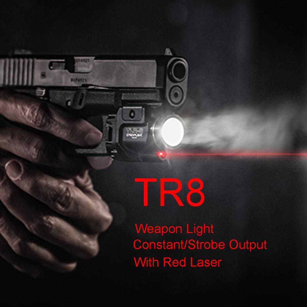 Tactical TLR Fullsize LED Weapon Light With Red Laser Sight For Pistol Hunting Glock 17 19 SIG CZ Laser Flashlight-0