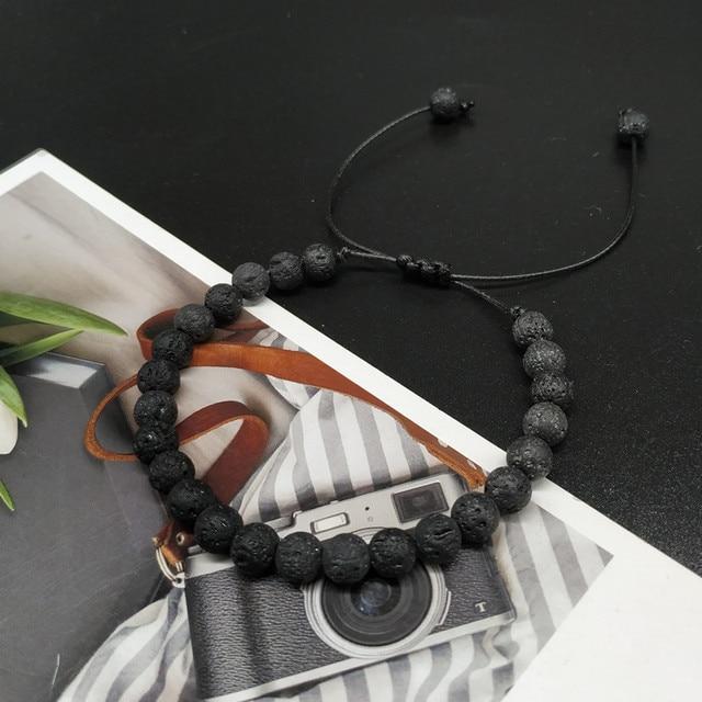 6mm New Natural Beads Bracelets Men Black Ethinc Meditation White Bracelet Women Prayer Jewelry Yoga Bracelet Homme