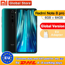 Globalna wersja Xiaomi Redmi Note 8 Pro 6GB 64GB Smartphone 64MP Quad Camera Helio G90T octa core 4500mAh NFC(China)
