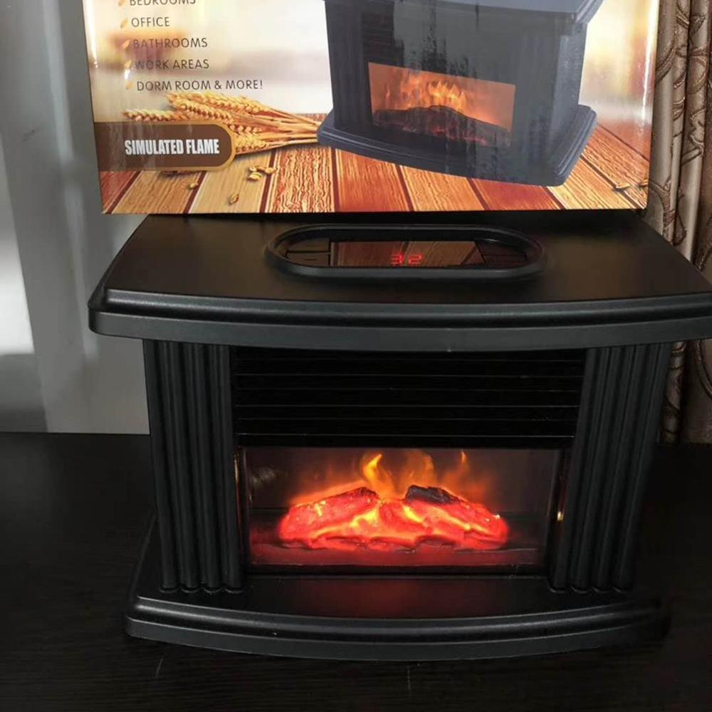 1000W Electric Fireplace Stove Heater Portable Tabletop Indoor Space Heater Chimenea Electrica Fire Place