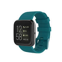 For Fitbit Versa/Versa 2 lite Watch Bands Fitness Strap With Metal Buckle for Fitbit Versa 2 Pure Color 23mm Width Wristband Man