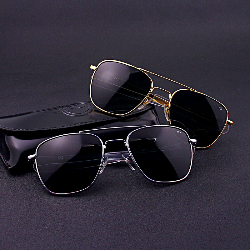 Aviação piloto retângulo óculos de sol das mulheres dos homens 2021 uv400 exército americano óculos de sol óptica militar ao óculos de sol masculino