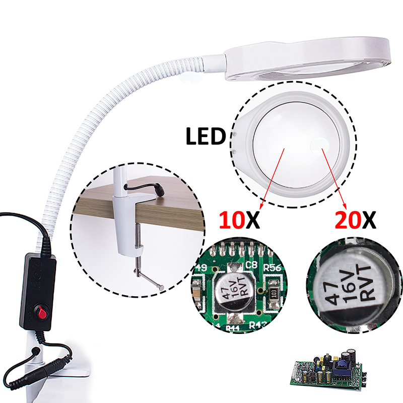 magnifying glasses with led light glasses magnifier with illumination lamp magnifying glass led magnification magnifier glasses