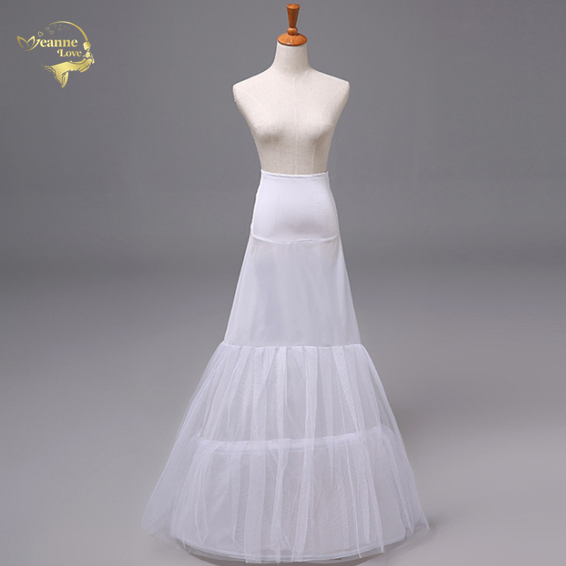 Cheap Mermaid Wedding Petticoats Vintage Bridal Underskirt Crinolines Petticoats For Mermaid Wedding Dresses Jupon Free Shipping