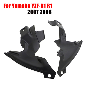 For Yamaha YZF R1 2007 2008 Ram Air Intake Tube Duct Cover Trim Motorcycle Fairing Bodywork Part ABS Unpainted R1 YZF-R1 YZFR1