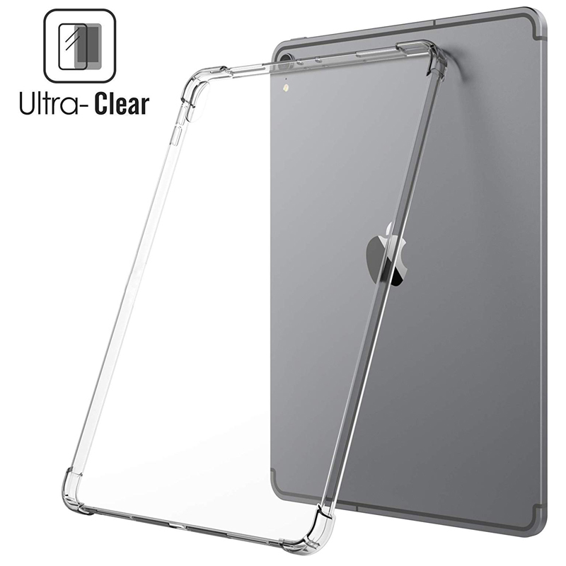 Silicon Case For iPad 10 2 2019 2020 Clear Transparent Soft TPU Back Cover Tablet Case