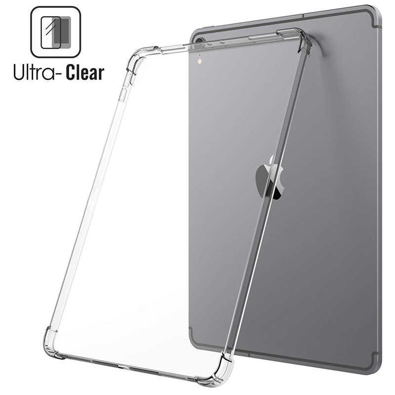 Silikon Case untuk Samsung Galaxy Tab A 10.1 2019 T510 8.0 ''T290 P200 7.0 'T280 2016 Clear Transparan lembut TPU Kembali Tablet Cover