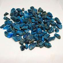 Нестандартный натуральный синий зеленый апатит, хрустальный камень, гравий, шероховатый минеральный образец