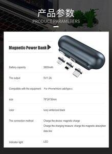 Image 5 - Caricabatterie magnetico Amsengo 2600mAh Mini batteria portatile PowerBank con Clip posteriore per iPhone Samsung Huawei Xiaomi Capsule mobile power