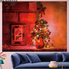Christmas Tapestry cute Wall Hanging festival fashion style building goblen Home Decor kid's room red Christmas tree wall towel christmas tree gift wall decor tapestry