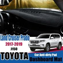 Parasol de salpicadero para Toyota Land Cruiser Prado 150 Series 2017 2018 2019 accesorios de alfombrilla antideslizante LC150 J150