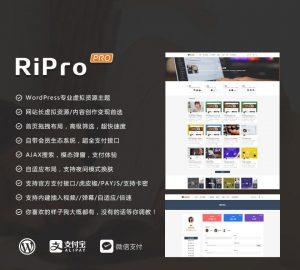 WORDPRESS资源分享主题站ripro4.3破解小更版(免sg11)