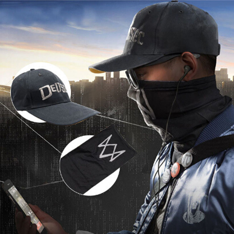 Watch Dogs Aiden Pearce Half Face MASK Windproof Neck Warmer Game Cosplay Scarf Costume Cos Party Halloween Mask Drop Shipping
