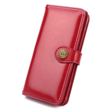 Vintage Women Long Clutch Wallet Large Capacity Zipper Wallets PU Leather Female Purse Fashion Lady Phone Purses Card Holder suoai 2016 new vintage wallet women pu leather long purse female simple black wallets and purses dollar price