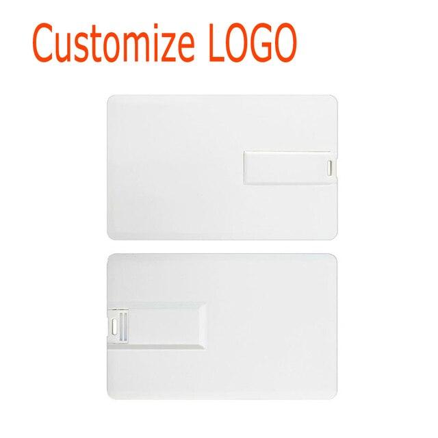 Custom Logo Memory Stick 128gb 64gb 32gb USB Flash Drive 2.0 16GB Disk on Key HSBC Master Credit Card Pendrive for Photography