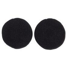 Пенопластовая Накладка для наушников(черный, 50 мм, упаковка из 2 шт